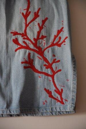 Jeansrock mit Motiv rot - Versace Jeans Couture
