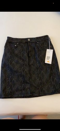 H&M Jeansowa spódnica czarny