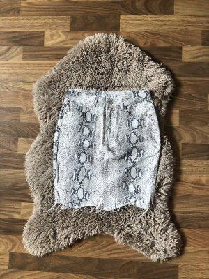 Amisu Spijkerrok wit-grijs