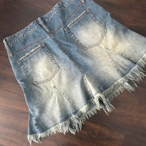 Oasis Denim Skirt steel blue