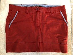 Patrizia Pepe Jupe en jeans rouge brique-rouge