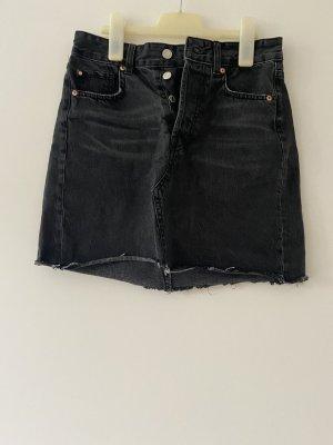 Jeansrock schwarz/grau