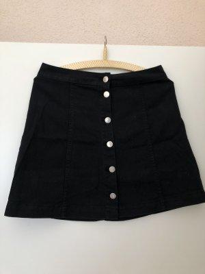 Jeansrock schwarz mit Knöpfen H&M Grösse 38