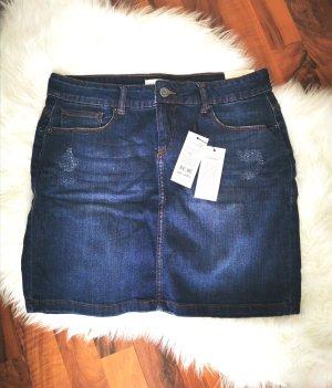 Blend She Jupe en jeans bleu foncé-bleu