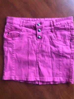 Colours of the World Denim Skirt pink