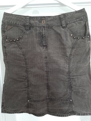 Freesoul Jupe en jeans gris foncé