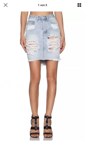 jeansrock von One by one teaspoon mit Rissen in Xs