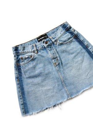 The Kooples Denim Skirt neon blue-azure