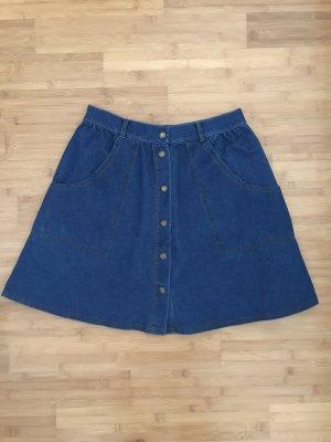 Topshop Jupe en jeans bleu foncé