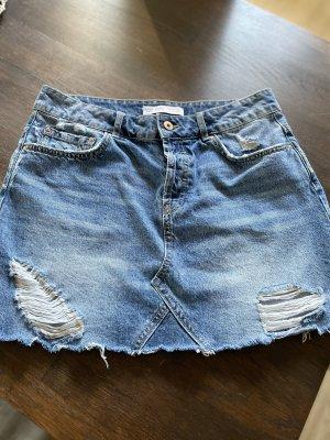 Zara Denim Skirt light blue