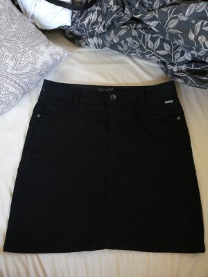 Zero Denim Skirt black