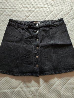 Forever 21 Denim Skirt black-anthracite