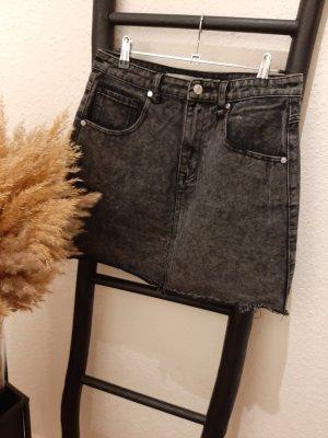 Brave Soul Jeansowa spódnica czarny-antracyt