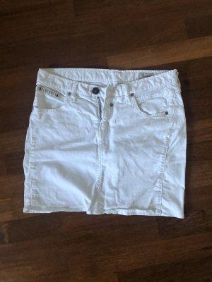 Herrlicher Jeansowa spódnica biały
