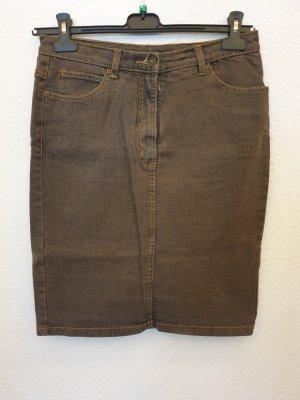bpc Gonna di jeans marrone-grigio-marrone chiaro