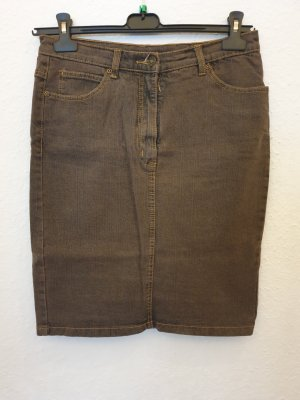 bpc Jupe en jeans gris brun-marron clair