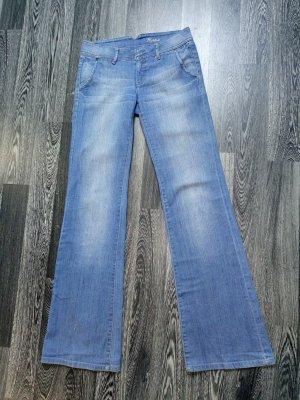 MNG Jeans Spijker flares blauw