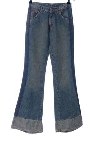 Jiggy Jeansschlaghose blau Casual-Look