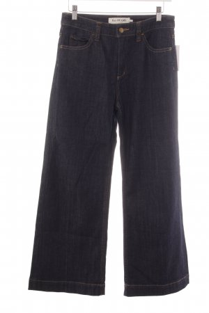 Jeansschlaghose dunkelblau Jeans-Optik