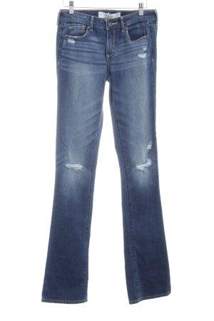 Jeansschlaghose stahlblau Casual-Look