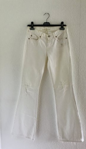 7 For All Mankind Jeans a zampa d'elefante bianco Cotone