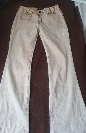 shunFu Jeans a zampa d'elefante beige chiaro-beige