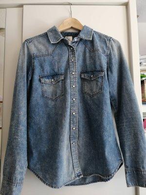 HM Jeansowa koszula niebieski