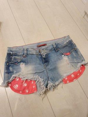 Low Rise Jeans cornflower blue-pink