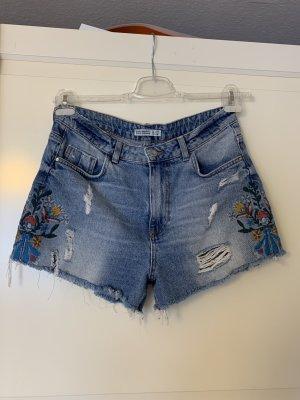 Zara Basic Short en jean multicolore