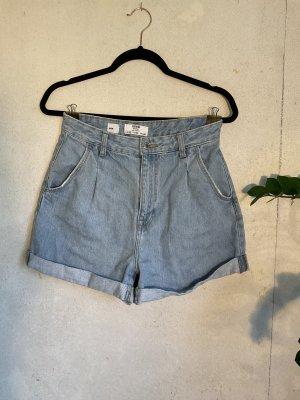 Bershka Denim Shorts azure