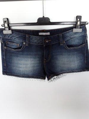 Tom Tailor Pantaloncino di jeans blu neon Cotone
