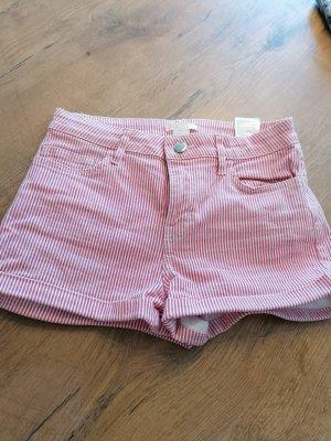 H&M Pantaloncino di jeans bianco-rosso