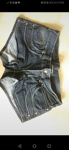 Jeansshort mit Schnüren