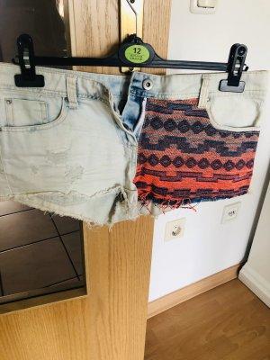 Jeansshort Shorts bunt M