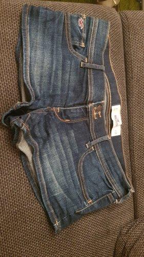 Hollister Pantalón corto de tela vaquera azul oscuro