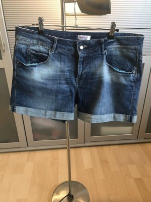Orsay Pantaloncino di jeans blu scuro-grigio ardesia