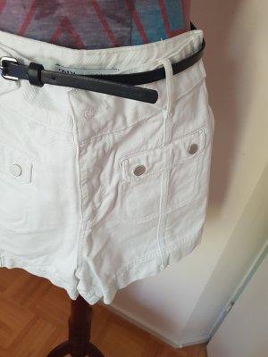 Zara Short en jean blanc