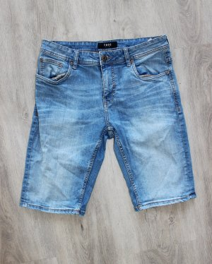 SMOG Pantaloncino di jeans blu scuro-blu