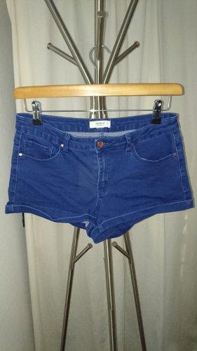 Forever 21 Pantalón corto de tela vaquera azul