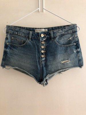 Trf by Zara Denim Shorts blue cotton