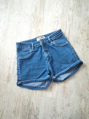 Tally Weijl Pantalón corto de tela vaquera azul-azul acero