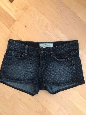 H&M L.O.G.G. Pantalón corto de tela vaquera azul oscuro