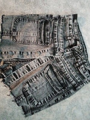 SheIn Pantalón corto de tela vaquera gris-gris oscuro
