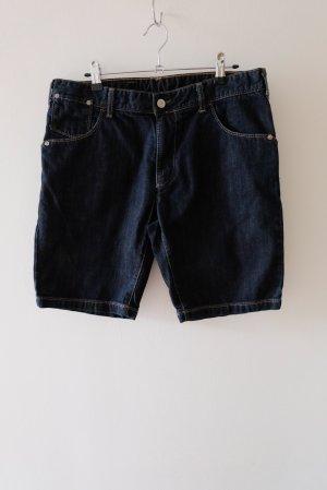 United Colors of Benetton Denim Shorts dark blue cotton