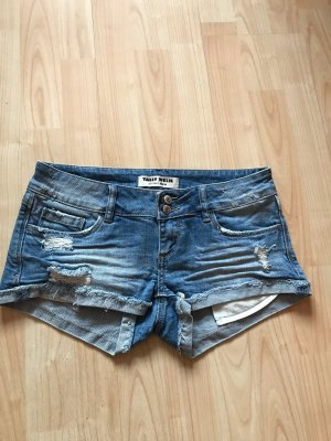 Tally Weijl Pantaloncino di jeans azzurro Cotone