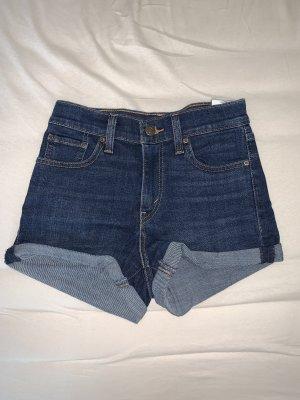 Levi's Short en jean bleu foncé-bleu acier