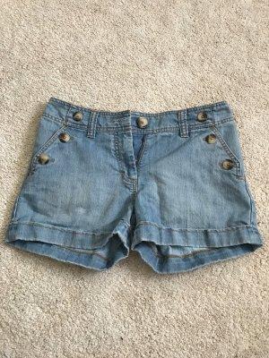 H&M Denim Shorts steel blue cotton