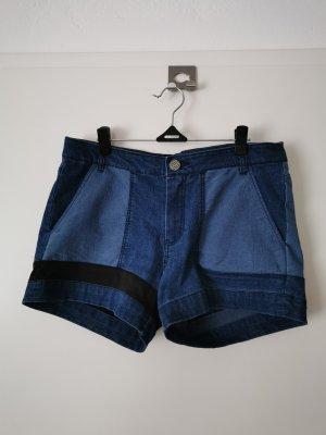 Pantaloncino di jeans nero-blu Cotone