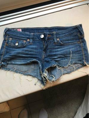 True Religion Short en jean bleu