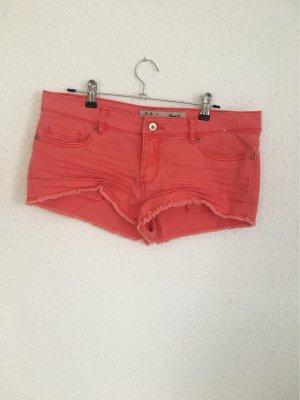 Denim Co. Short en jean rouge clair